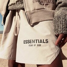 Mens hip-hop black street ESSENTIALS SHORTS hip-hop brand fashion mens designer clothing mens black gray sweat harem shorts