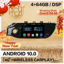 4 + 128 Carplay 2 Din Android 10 Screen Multimedia Speler Voor Kia K2 Rio 2017 2018 2019 Gps Navi auto Audio Radio Stereo Head Unit