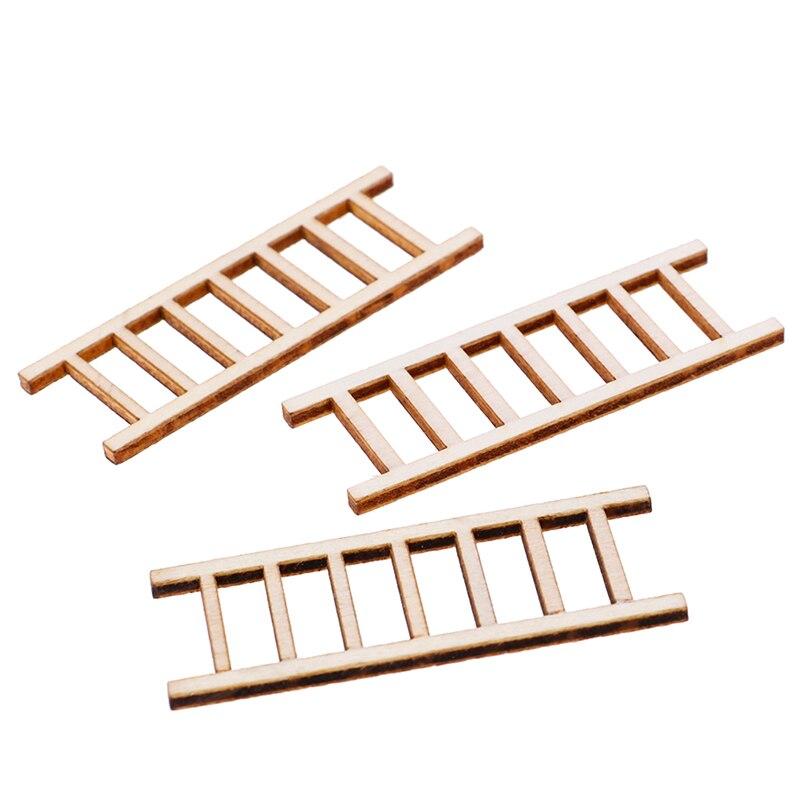 3 шт./лот 1:12 Кукольный домик Миниатюрный Сказочный садовый декор кукольный домик Миниатюрный Деревянный шаг лестница мебельные инструменты