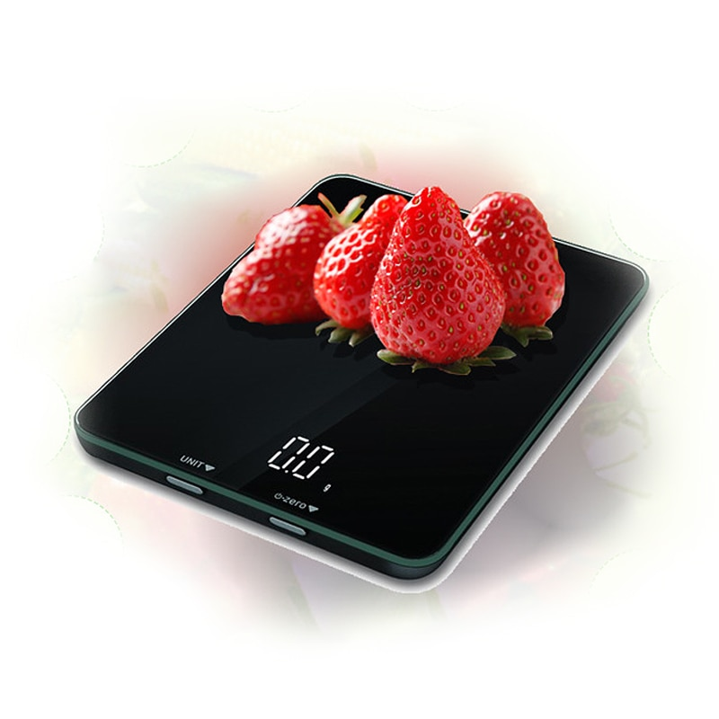 Báscula de comida Digital, Bluetooth inteligente, para uso en el hogar, pantalla LCD Sn, rango de capacidad de 1k/5k, superficie de vidrio templado
