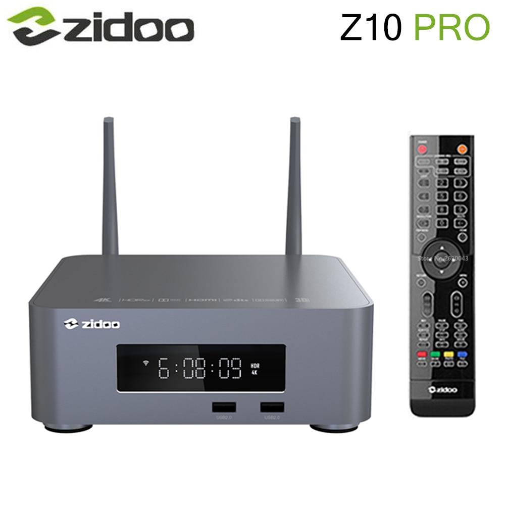 Zidoo Z10 برو مربع التلفزيون الذكية أندرويد 9.0 دعم دولبي الرؤية BD MV ISO 4K HDR ريالتيك RTD1619DR 2GB DDR4 32GB ROM مجموعة صندوق فوقي