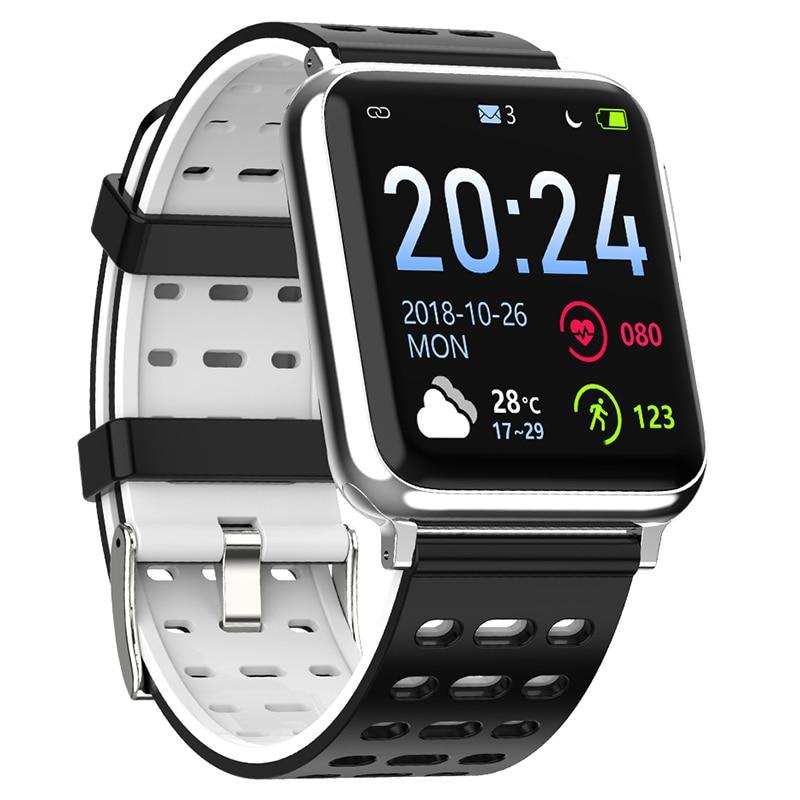 V5 ساعة ذكية رجل ECG سوار لياقة بدنية الصحة الإلكترونية ضغط الدم ساعة مراقب معدل ضربات القلب جهاز تعقب للياقة البدنية Smartwatch