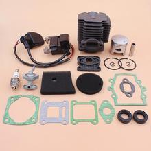 40mm Cylinder Piston Ignition Coil Kit For Robin NB411 EC04 CG411 Air Filter Element Intake Manifold Oil Seal Gasket Set