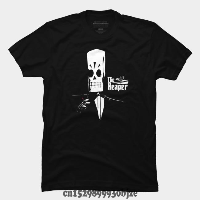 Camiseta deportiva para hombre, camiseta informal de manga corta con cuello redondo con estampado The Reaper