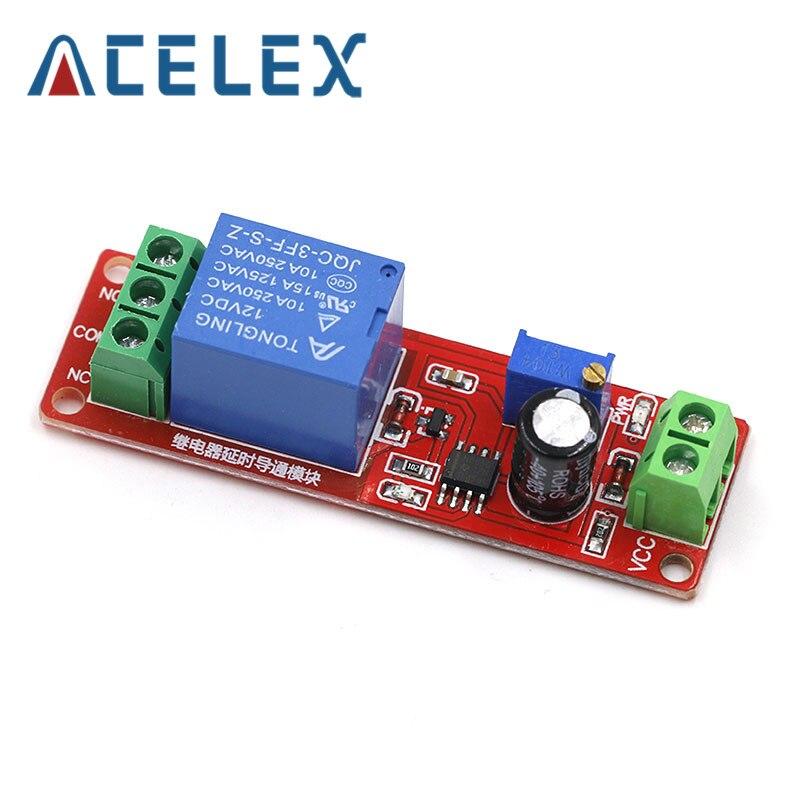 12 В постоянного тока реле задержки времени NE555 реле времени щит реле времени Реле таймера переключатель управления автомобиля реле импульсного поколения рабочий цикл