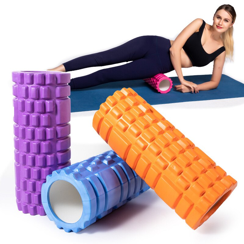 90x15cm eva yoga pilates massage trigger point foam roller exercise fitness gym Yoga Column Gym Fitness Foam Roller Pilates Yoga Exercise Back Muscle Massage Roller Soft Yoga Block Muscle Roller