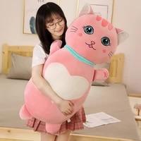 cartoon big eye cat soft plush pillows nap long sleeping pillows home and office nap cushion