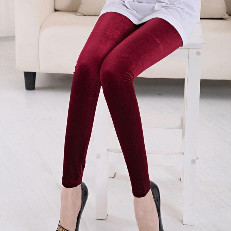Флисовые бархатные высокоэластичные леггинсы женские утепленные осенне-зимние двухсторонние флисовые теплые брюки большого размера