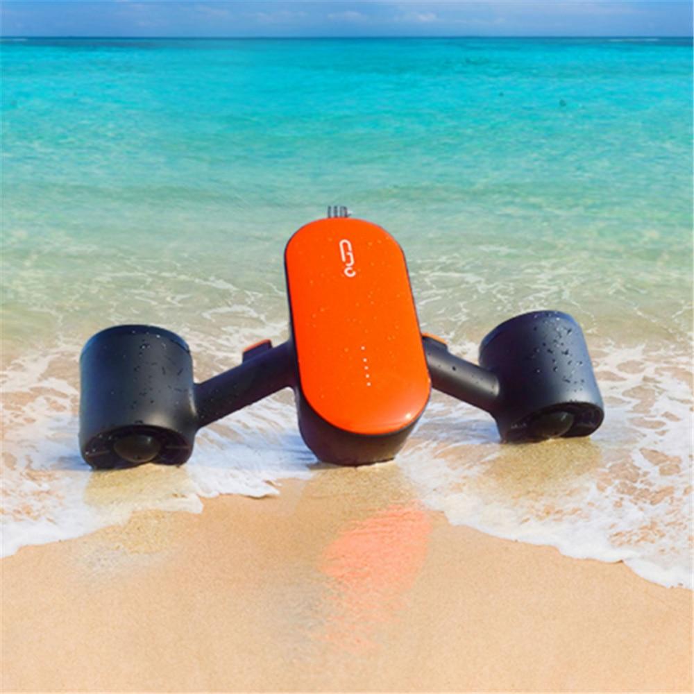 كامورو 350 واط الكهربائية النفاثة تحت سكوتر للمياه مع الكاميرا والضوء Seascooter المزدوج المروحة زعانف للغطس البحر سكوتر للمياه
