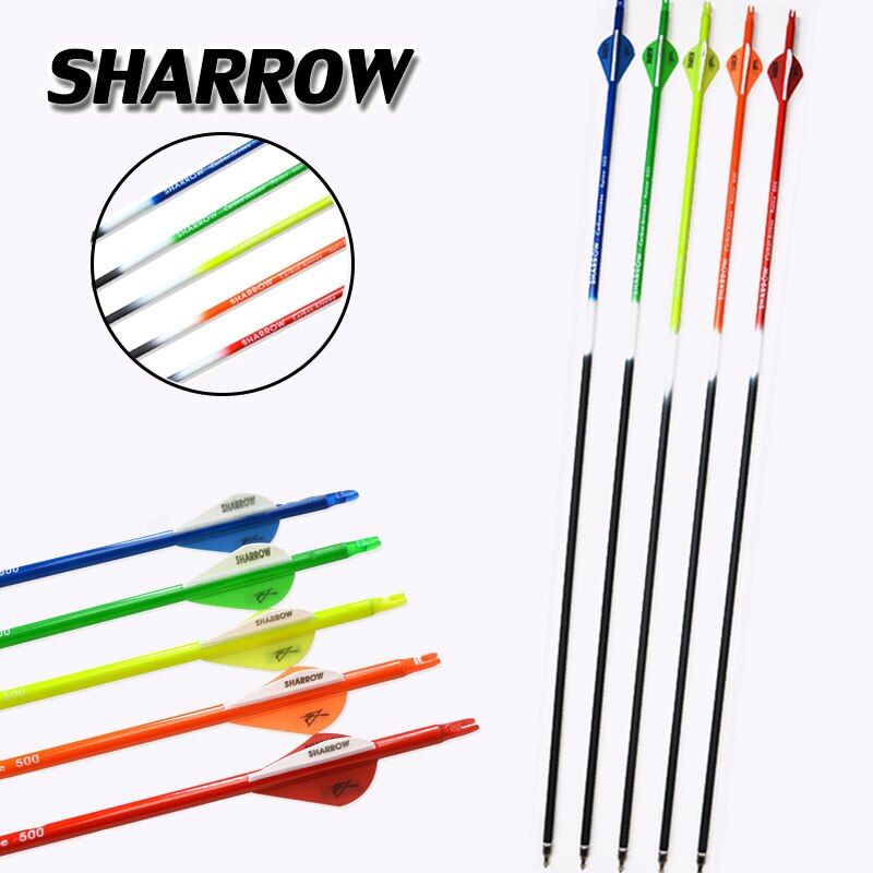 6/12pc Archery Spine500 Mixed Carbon Creative Colorful Competition Practice Hunting Shooting Bow And Arrow Accessories