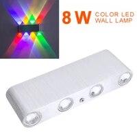 Mayitr 1pc 8W Durable en aluminium mur LED lampe de haute qualite colore interieur decoration lumiere pour la maison Bar cafe