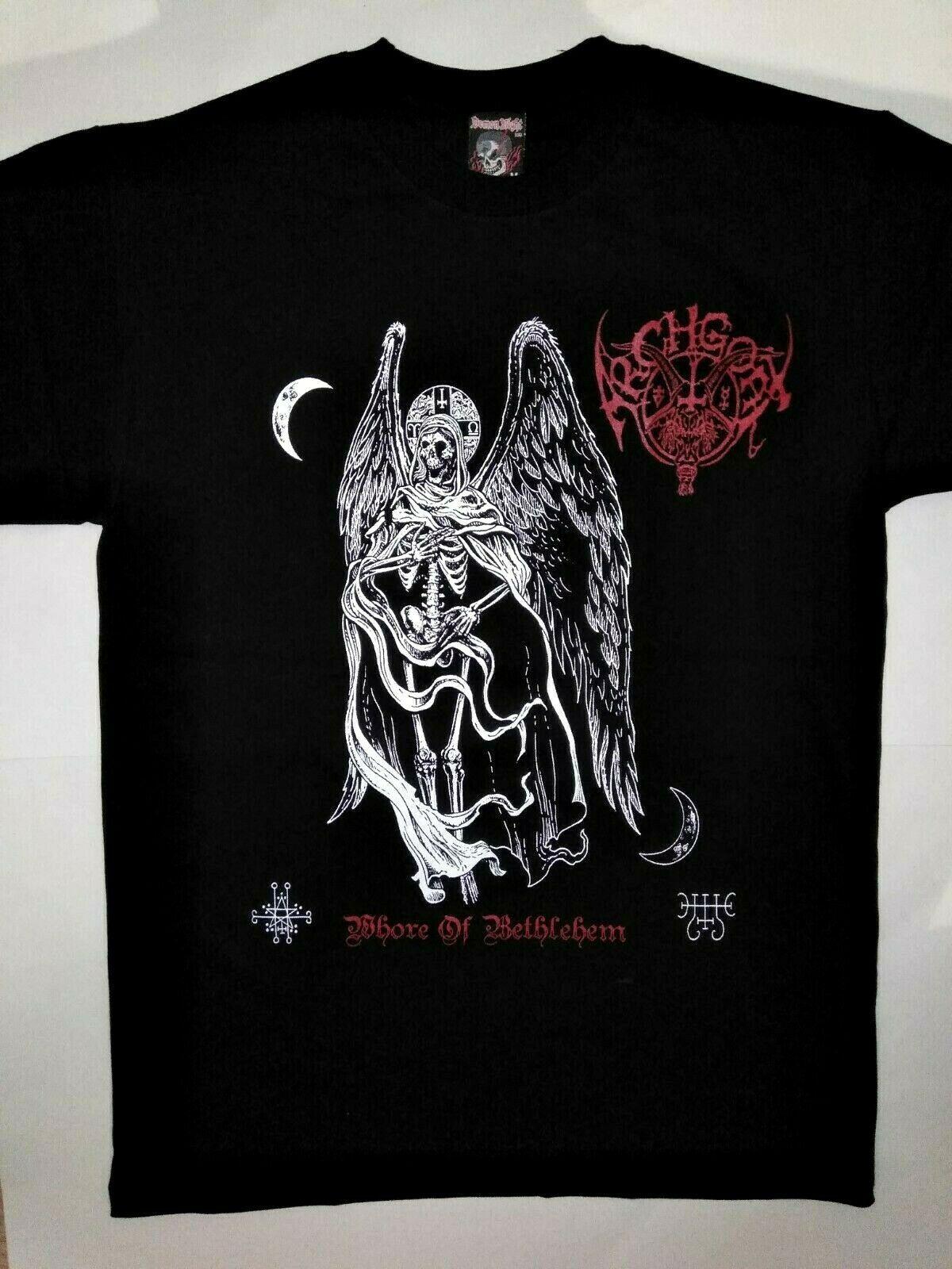 Archgoat T-Shirt Blasphemy Black Witchery Satanic Warmaster Whore Bethlehem