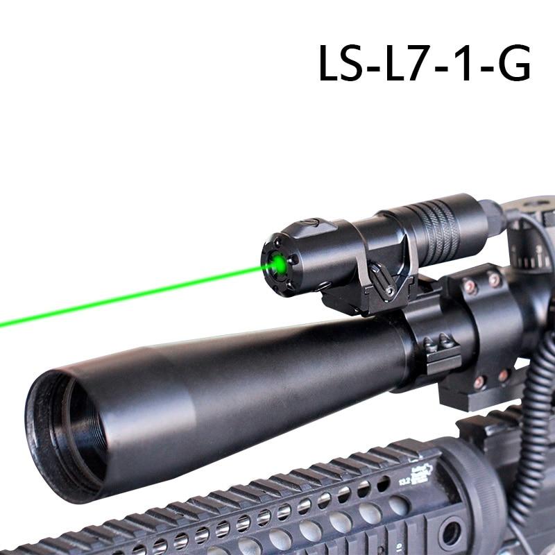 Mira láser infrarroja Picatinny montada en Riel, tiro de caza láser a prueba de golpes, armas de Rifle, Mira láser verde rojo