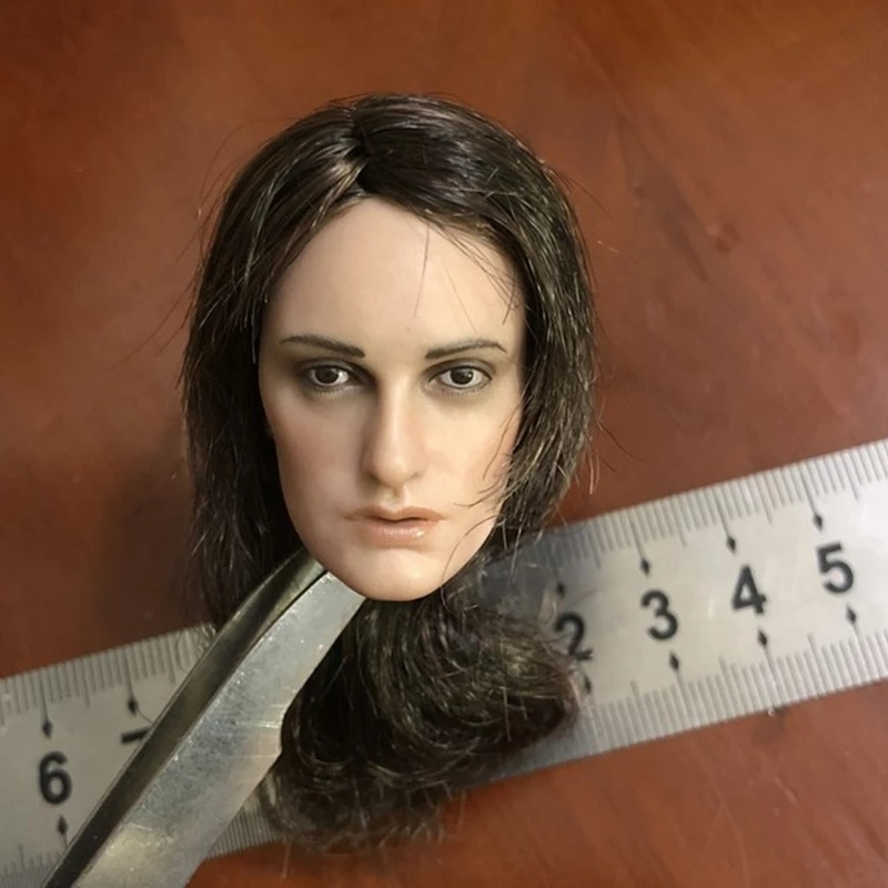 In Stock 1/6 Scale Female Pirate Lady Head Sculpture Carved Model Fit 12
