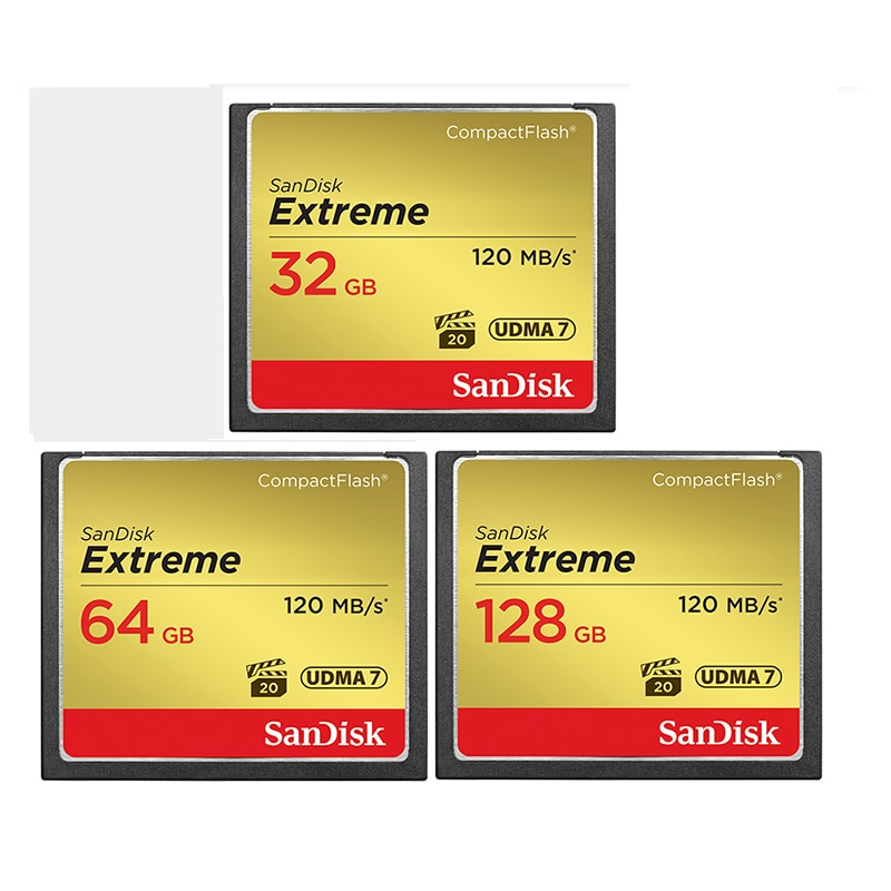 Sandisk Extreme Compact Flash Card Compactflash 32GB 64GB 128GB UDMA7 High Speed Compact Flash CF Memory Card For DSLR Camera enlarge