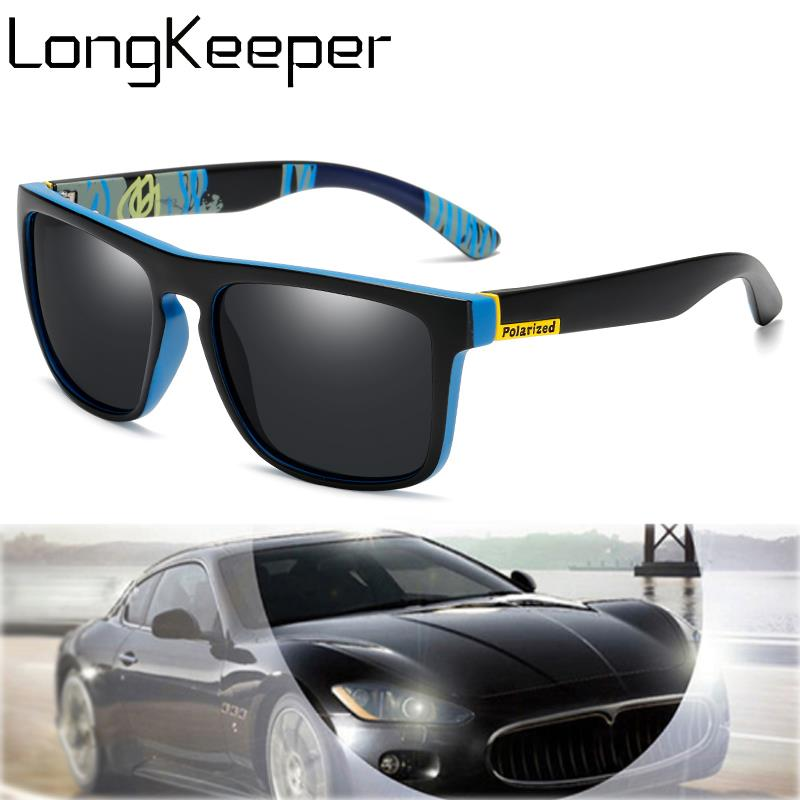 Очки солнцезащитные поляризационные для мужчин и женщин, квадратные модные солнечные очки для вождения, винтажные брендовые дизайнерские ...