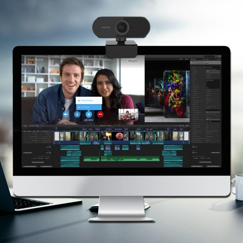 2020 Full HD 1080P Auto Focus USB2.0 Webcam UVC micrófono incorporado cámara para PC, portátil, PC, cámara Digital Webcams