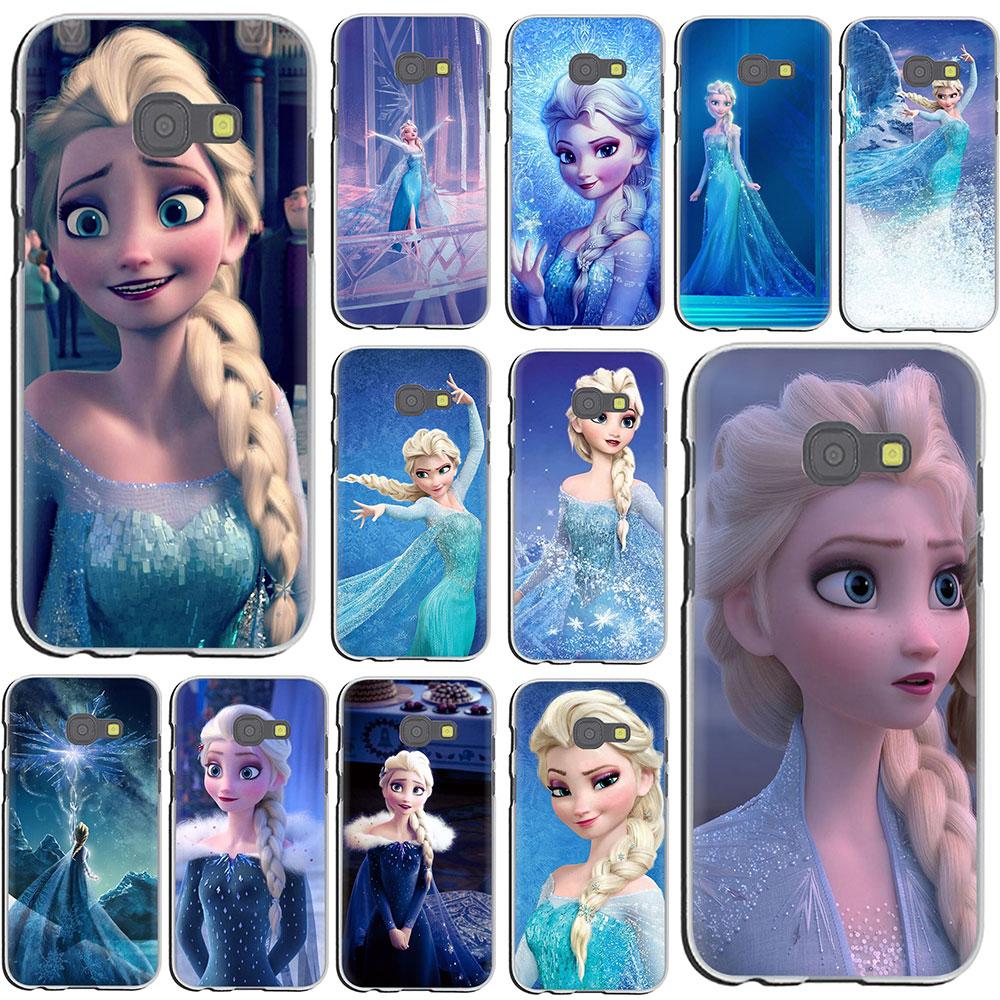 EWAU nieve reina Elsa de la caja del teléfono duro para Samsung Galaxy J8 J7 J6 J5 J4 J3 J2 J1 2015 2016 de 2017 de la UE nos versión
