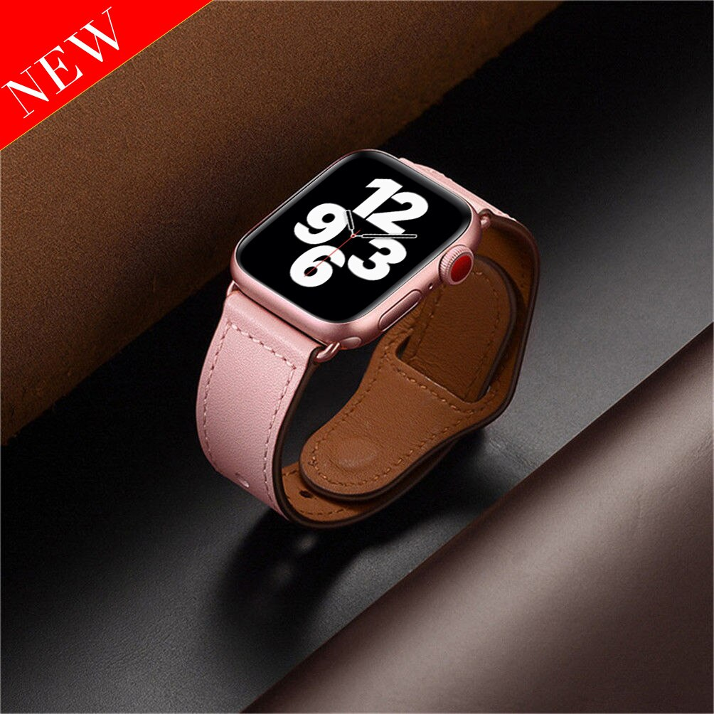 strap for apple watch 6 band 44mm 40mm 42mm 38mm leather replacement strap for iwatch apple se series 6 5 4 3 2 1 bracelet Leather strap For Apple watch band 44mm 40mm iWatch band 42mm 38mm Genuine Leather belt bracelet Apple watch series 5 4 3 2 SE 6