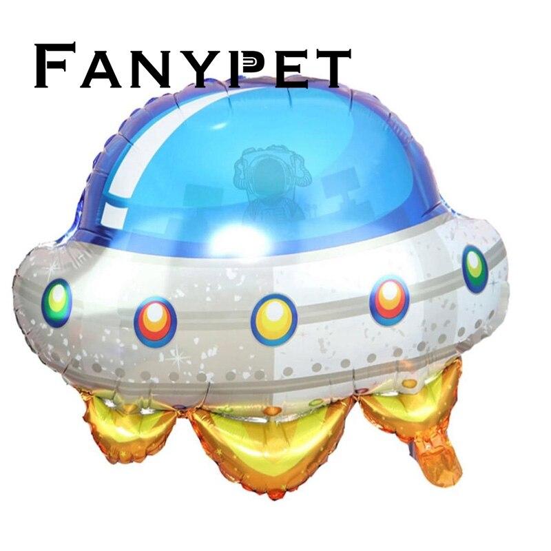 Astronauta nave espacial tema niños globos decoración cumpleaños ciencia ficción OVNI mundo niños juguetes Baby Shower globos suministros regalo
