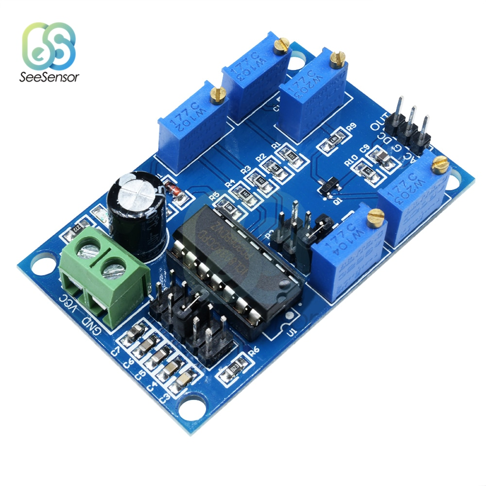 Módulo generador de señal ajustable cc 12V 15V ICL8038 10Hz-450KHz frecuencia media baja Triangular/Rectangular/onda sinusoidal