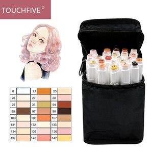 TOUCHFIVE 12/24/36 Colors Marker Skin Tones Set , Artist Dual Headed Alcohol Based ink Manga Brush Pen For Coloring ,Art Markers