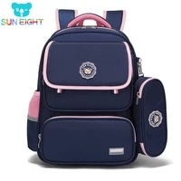 sun eight orthopedic primary school bags for girls waterproof pink children backpack new class with pencil box