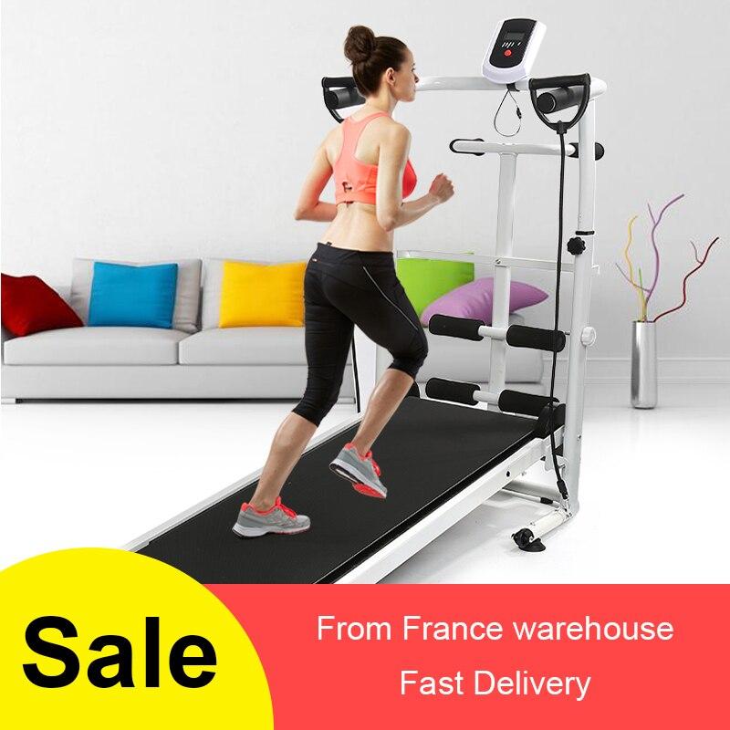 2020 cinta de correr interior Fitness Equipmen plegable Running entrenamiento Twisting máquina sit-ups cinta de correr multifunción con cinturón HWC