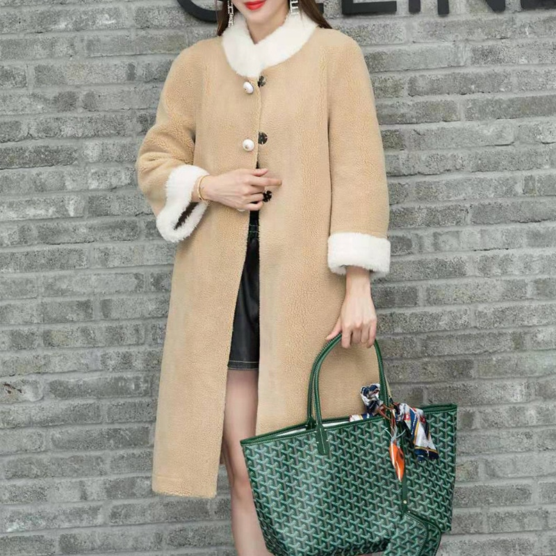 Pearl Button Winter Faux Fur Teddy Coat Women High Street Oversized Teddy Jackets And Coats Ladies Lamb Wool Coat Faux Fur Coat faux pearl espadrille flatform sliders