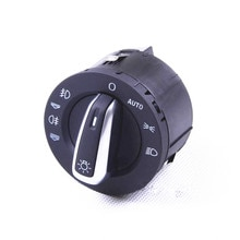 COSTLYSEED 4F1941531D For A6 S6 C6 Allroad Q7 RS6 4F1 941 531 E Chrome Auto Headlight Fog Light Switch