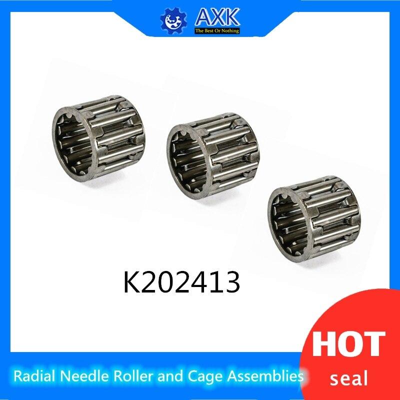 K202413 tamaño de rodamiento 20*24*13mm (4 uds) rodillo de aguja Radial y montajes de jaula K202413 39241/20 rodamientos K20x24x13
