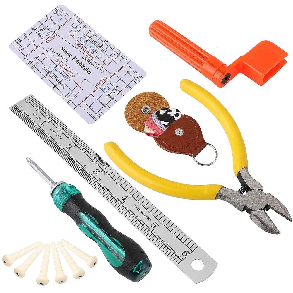 Guitar Care Repair Tool Set Maintenance String & Fret Fingerboard Protector Replace File Storage Bag Guitar Bass Tool Kit enlarge