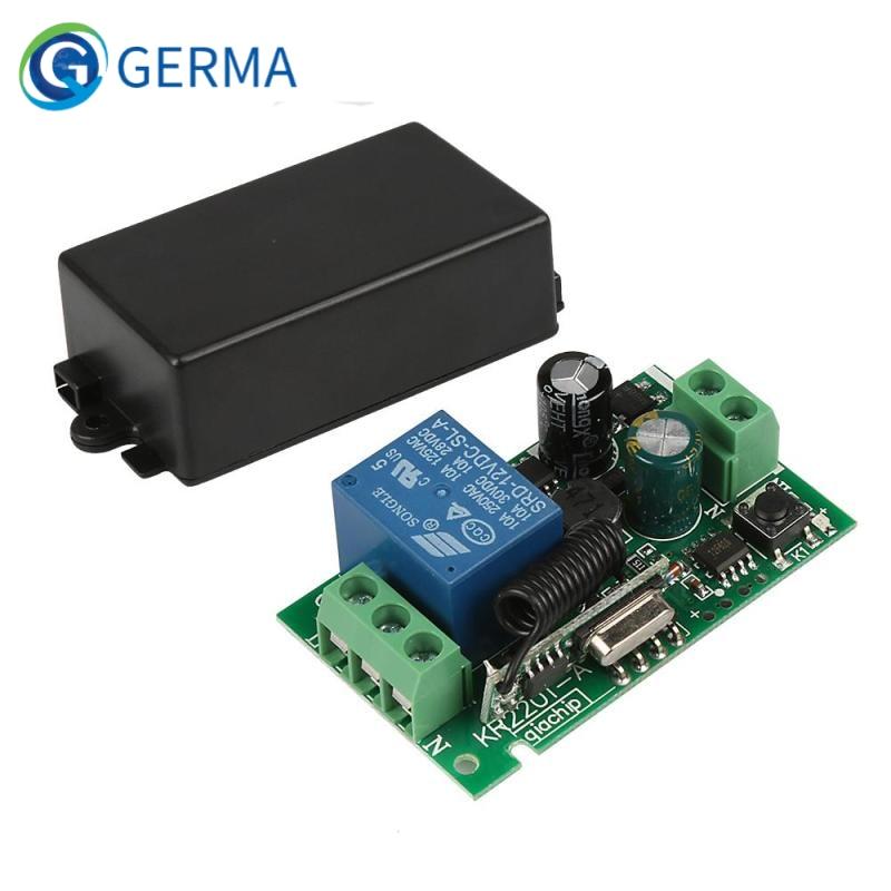 GERMA AC 250V 110V 220V 1CH 433Mhz Universal Wireless Remote Control Switch Relay Module Receiver Fo