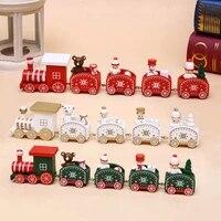 decor train santa xmas christmas wooden claus new ornament festival home gifts