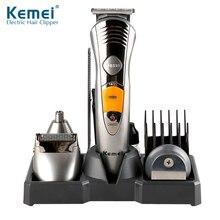 Kemei 7-en-1 électrique tondeuse à cheveux réglable Rechargeable rasoir pour hommes nez oreille tondeuse à barbe rasoir Machine à raser 43D