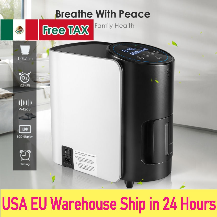 english version 2l 9l air purifier 110v 220v for us customer AUPORO 1-7L/min Oxygen Concentrator Machine Generator Portable Oxygen Making Machine Without Battery Air Purifier AC 220V/110V