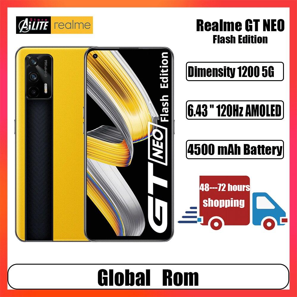 Смартфон Realme GT Neo, 1200 дюйма, 6,43 Гц, 65 Вт, 64 мп