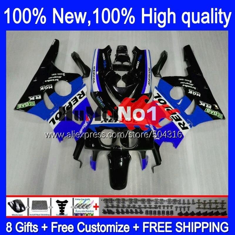 CBR400 RR لهوندا CBR 400 RR 400RR 1988 1989 1990 1991 1992 1993 136MC.95 الأزرق الأسود CBR400RR NC23 88 89 90 91 92 93 هدية