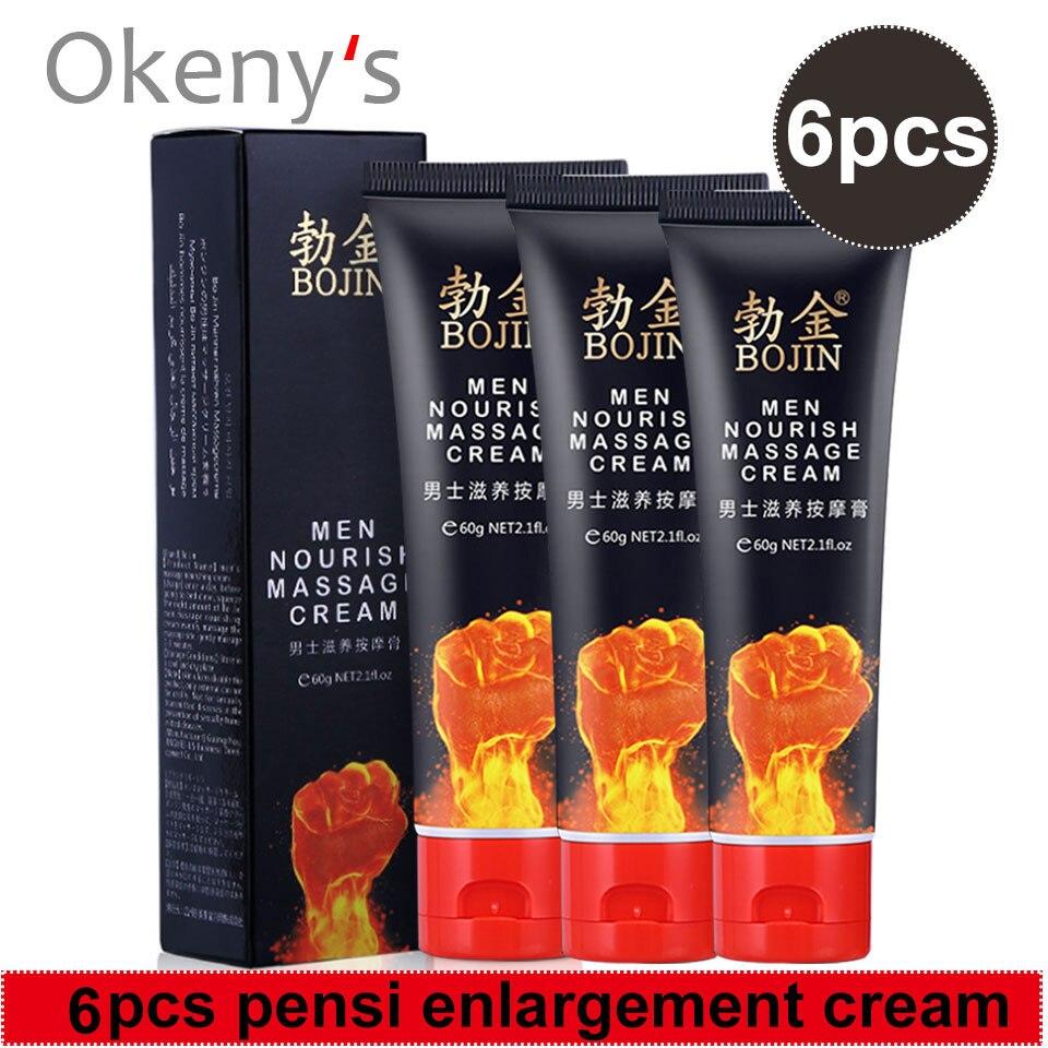6 uds Original afrodisíaco para hombres, crema para alargamiento de pene, engrosamiento de crecimiento de miembro grande, grasa retardante de sexo de largo tiempo para píldoras sexuales