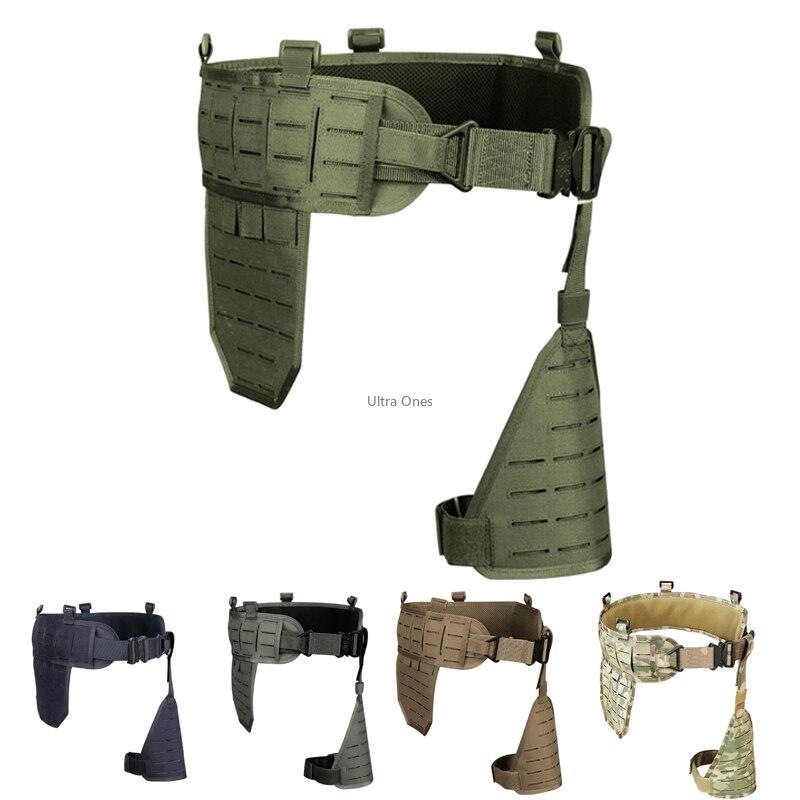 Cintura tático cummerbund airsoft paintball apoio do exército caça cintos de treinamento de tiro cinto de combate molle náilon