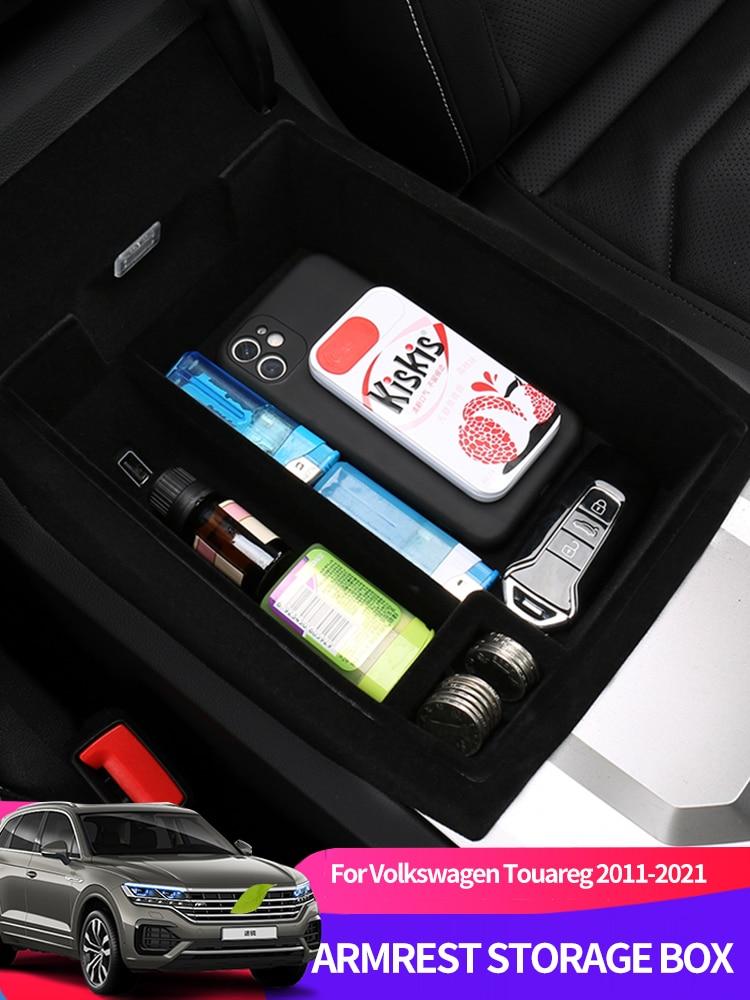 Автомобильный центральный подлокотник, коробка для хранения, модифицированные аксессуары, Противоскользящий коврик для модификации Volkswagen...