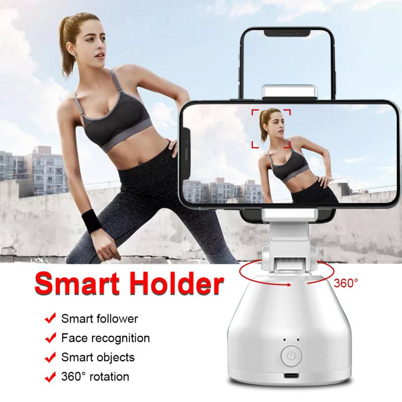 Dropship Holder Smart AI Gimbal Personal Robot IA Face Cameraman 360° Rotation Face Tracking Mobile Phone Stand ABS Plastic New