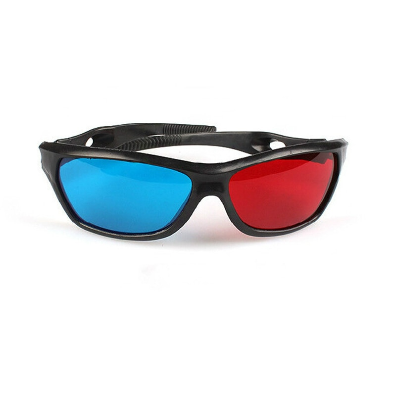 New  Black Frame Universal 3D Plastic Glasses/Oculos/Red Blue Cyan 3D Glass Anaglyph 3D Movie Game D