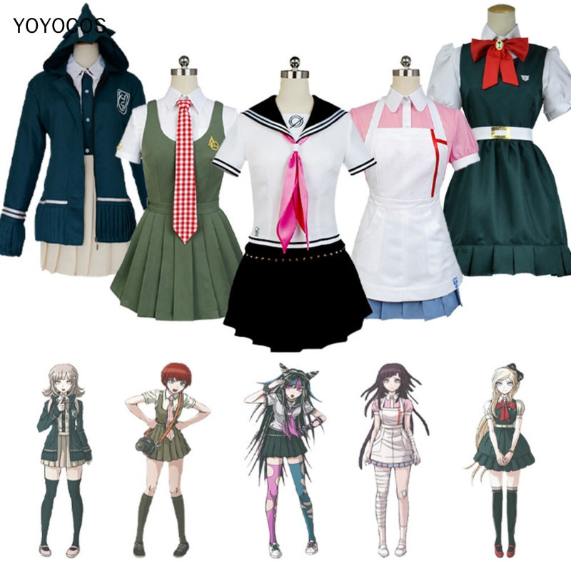 YOYOCOS Danganronpa gatillo feliz estragos 2 Nanami ChiaKi Sonia no importa Koizumi Mahiru Mikan Tsumiki Mioda Ibuki Cosplay