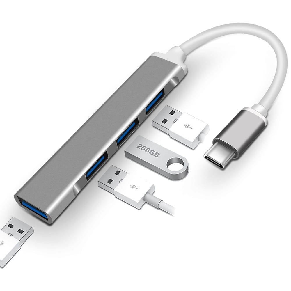 tipo usb c hub usb 30 para rj45 adaptador thunderbolt 3 doca para computador portatil