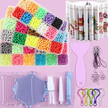 Water Beads DIY Set Pearl Box Pegboard Game Kit Ironing Tool Accessories Kids Designer Toys for Girl