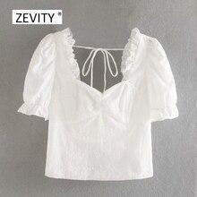 Neue 2020 frauen mode pilz spitze quadrat kragen weißen kittel bluse dame aushöhlen stickerei elastische shirt chemise tops LS6765