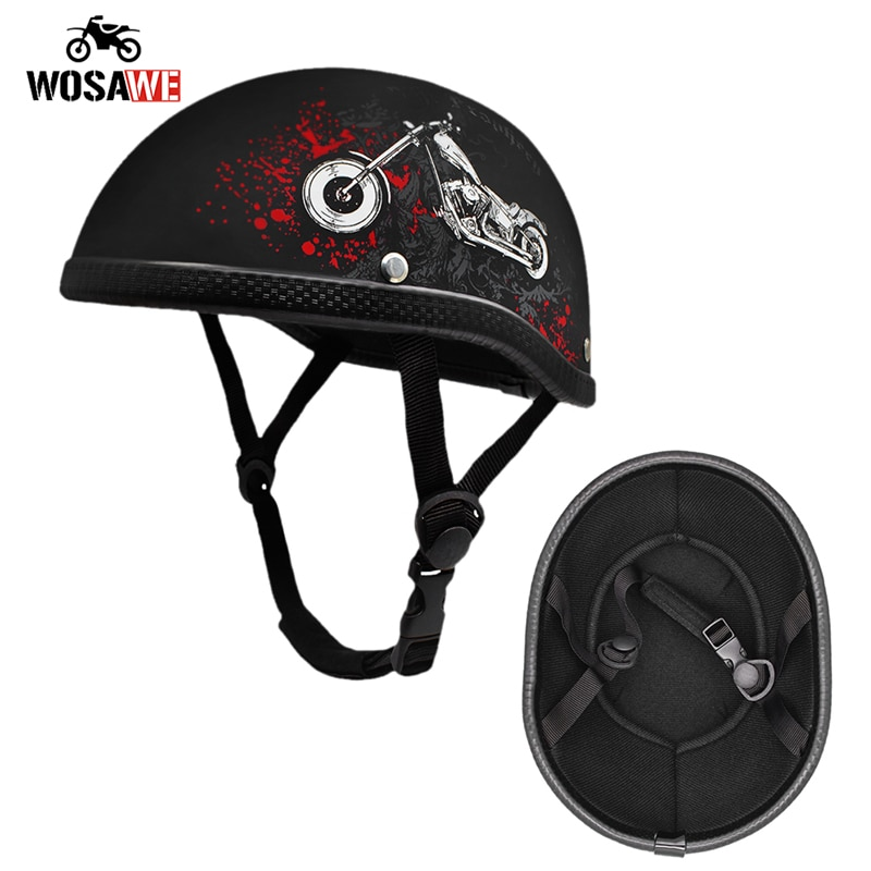 WOSAWE мотоциклетный полушлем козырек наушник защита ушей шлем самокат высокое качество винтажный Ретро винтажный мотоциклетный шлем