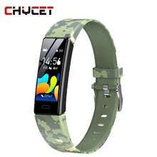 Смарт-браслет для мужчин и женщин с цветным экраном, пульсометром, тонометром