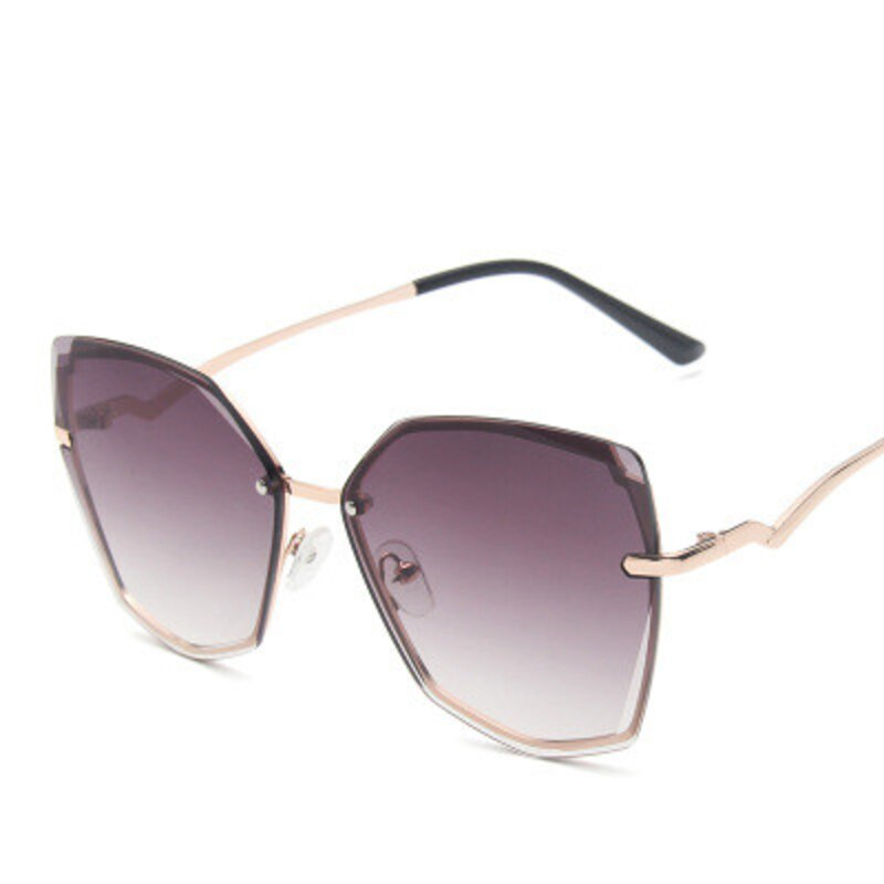 new fashion retro cat eye sunglasses women 2020 luxury brand designer trendy frameless sun glasses ladies gradient ocean shades